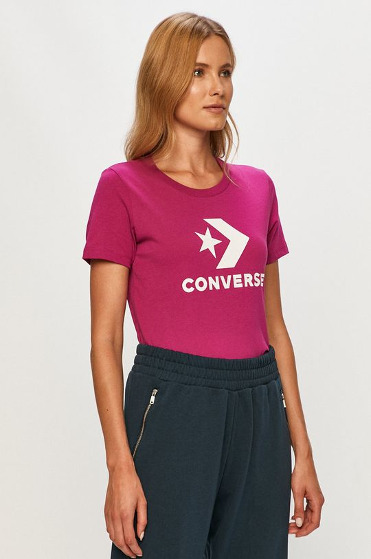 fioletowy Converse - T-shirt