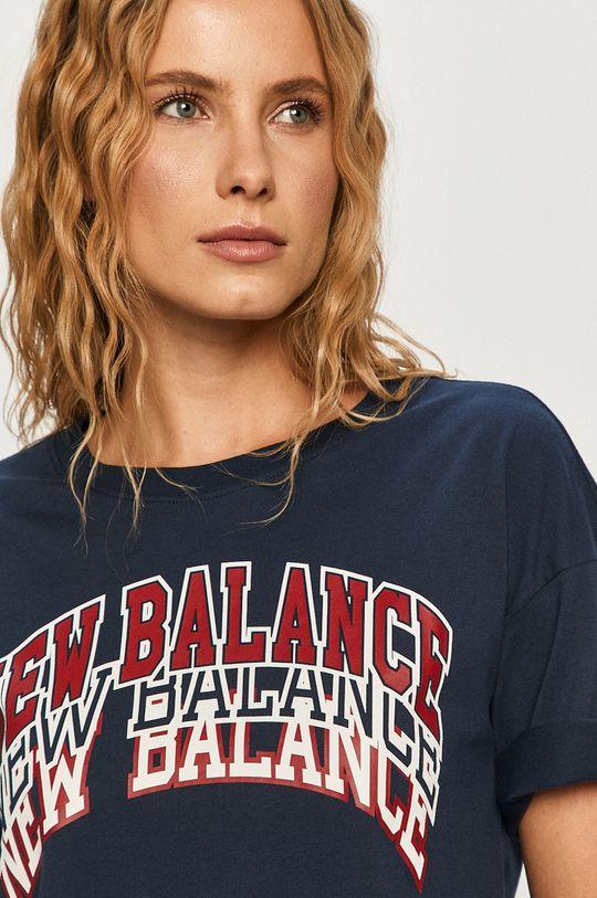 námořnická modř New Balance - Tričko Dámský