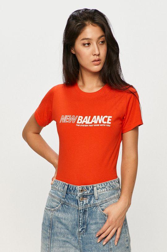 oranžová New Balance - Tričko Dámský