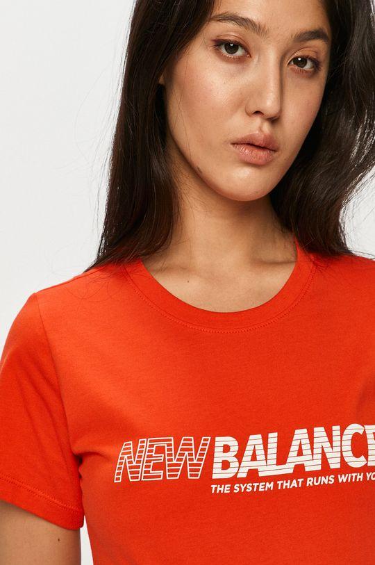 oranžová New Balance - Tričko