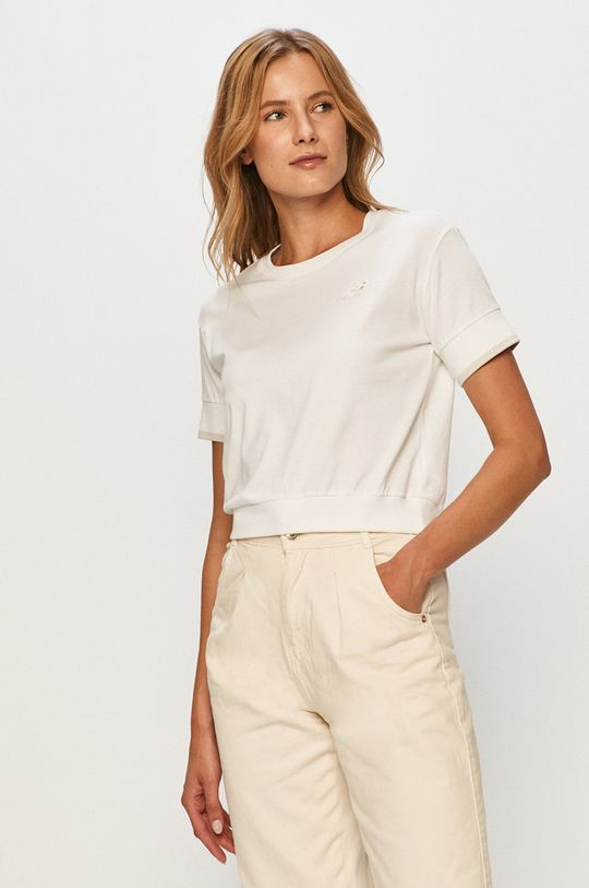 biały New Balance - T-shirt Damski