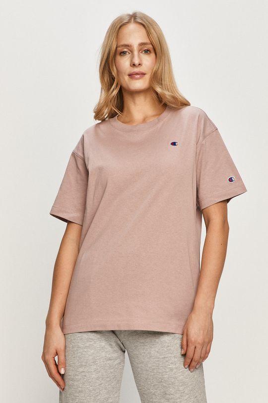 różowy Champion - T-shirt Damski