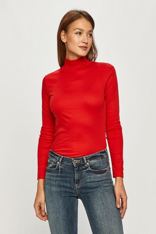 červená Lacoste - Tričko s dlhým rúkavom Dámsky