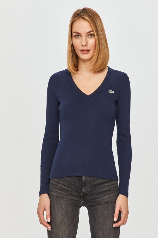 tmavomodrá Lacoste - Tričko s dlhým rukávom Dámsky