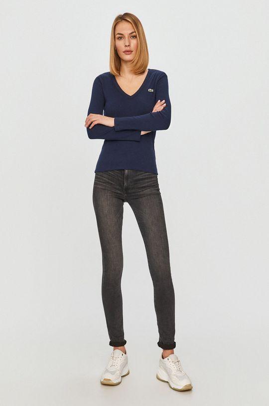 Lacoste - Tričko s dlhým rukávom tmavomodrá