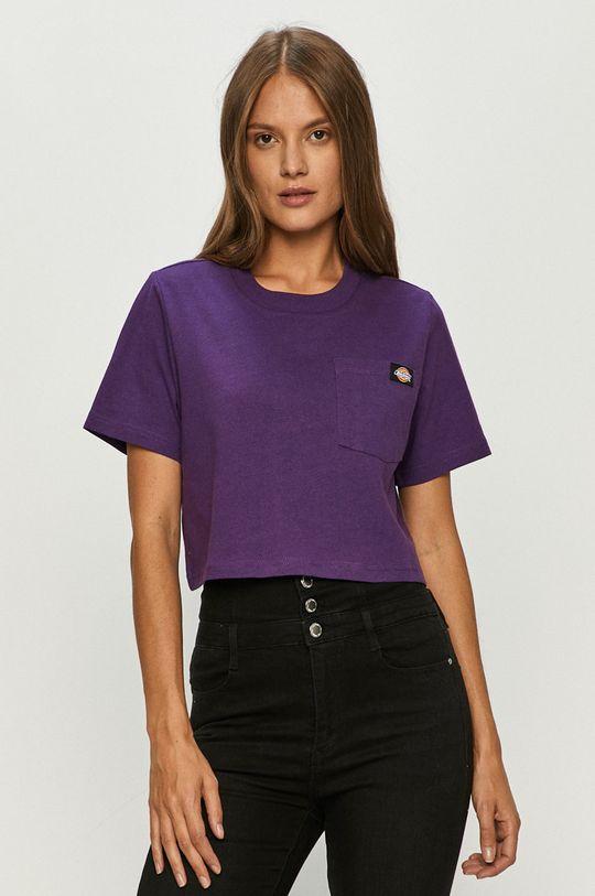 purpurowy Dickies - T-shirt Damski