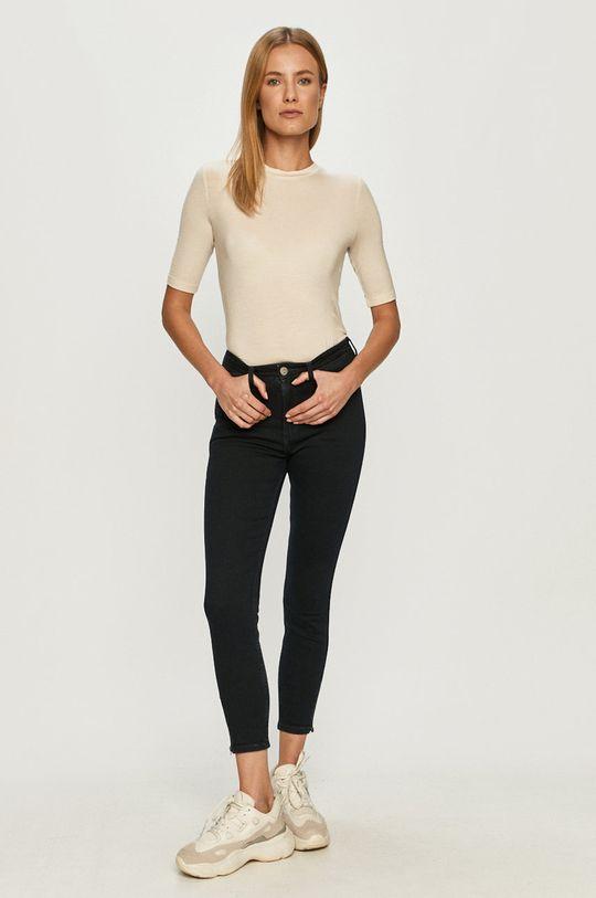 Vero Moda - T-shirt kremowy