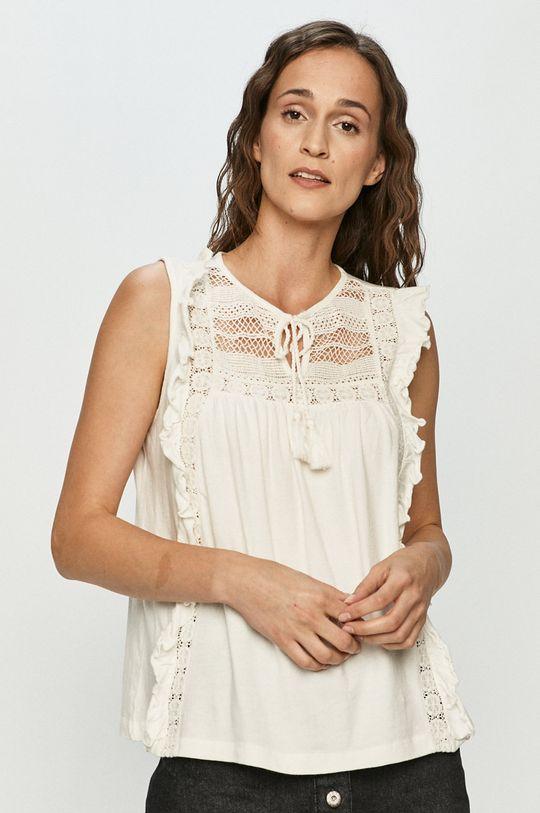 biały Vero Moda - Bluzka bawełniana Damski