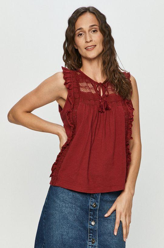 czerwony Vero Moda - Bluzka bawełniana Damski