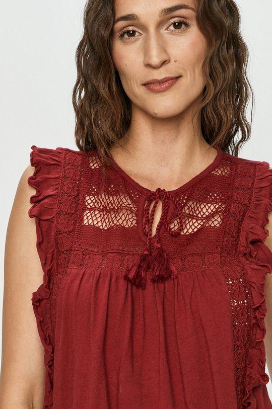 Vero Moda - Bluzka bawełniana czerwony