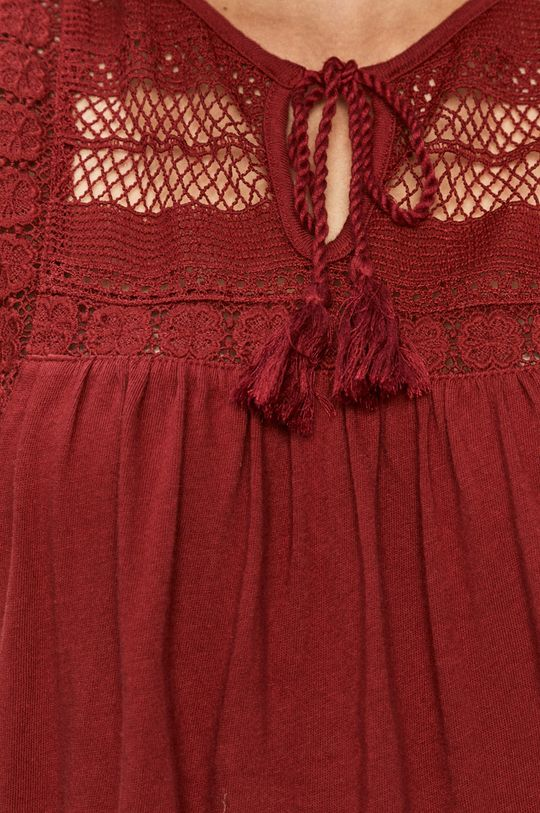 czerwony Vero Moda - Bluzka bawełniana