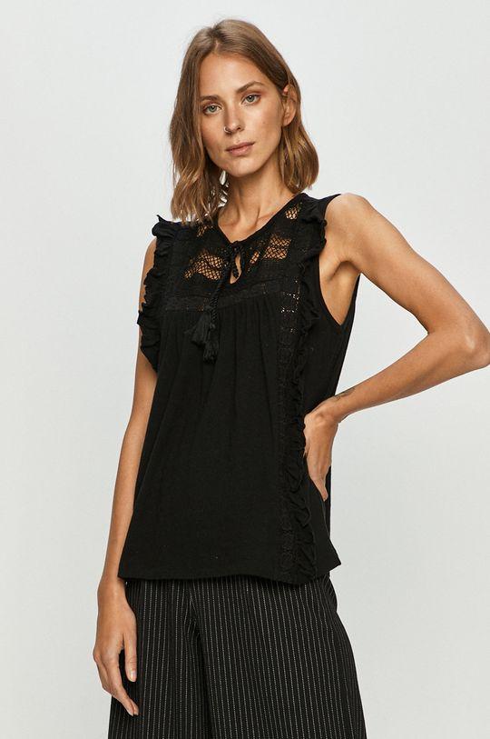 czarny Vero Moda - Bluzka bawełniana Damski