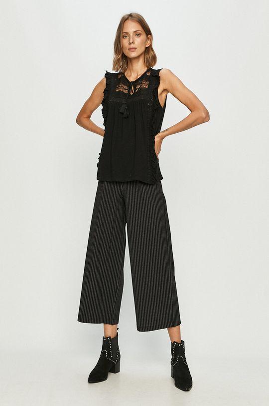 Vero Moda - Bluzka bawełniana czarny