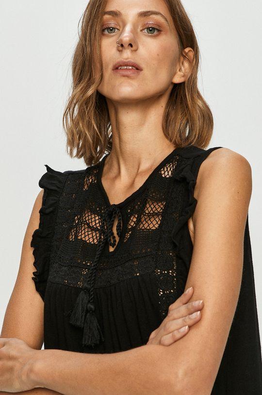 czarny Vero Moda - Bluzka bawełniana