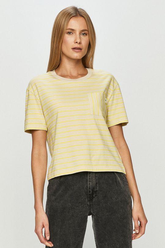 jasně žlutá Vans - Tričko Dámský