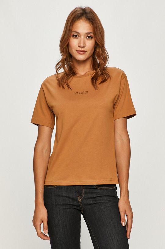 brązowy Vero Moda - T-shirt Damski