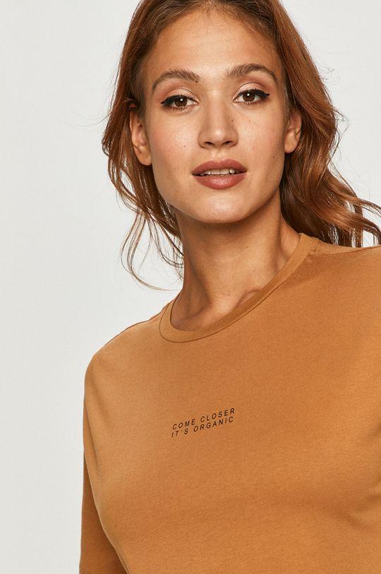 brązowy Vero Moda - T-shirt