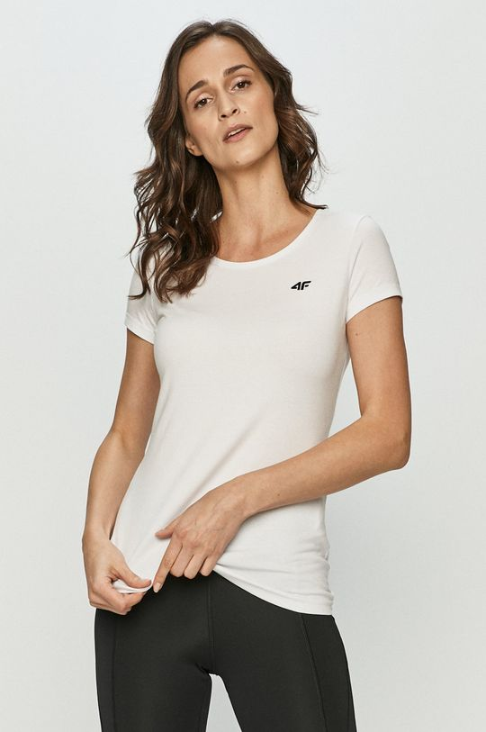 biały 4F - T-shirt Damski