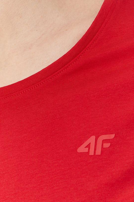 czerwony 4F - T-shirt/polo NOSH4.TSD001