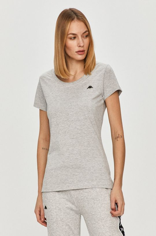 jasny szary Kappa - T-shirt Damski
