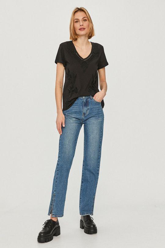 Desigual - Tričko čierna