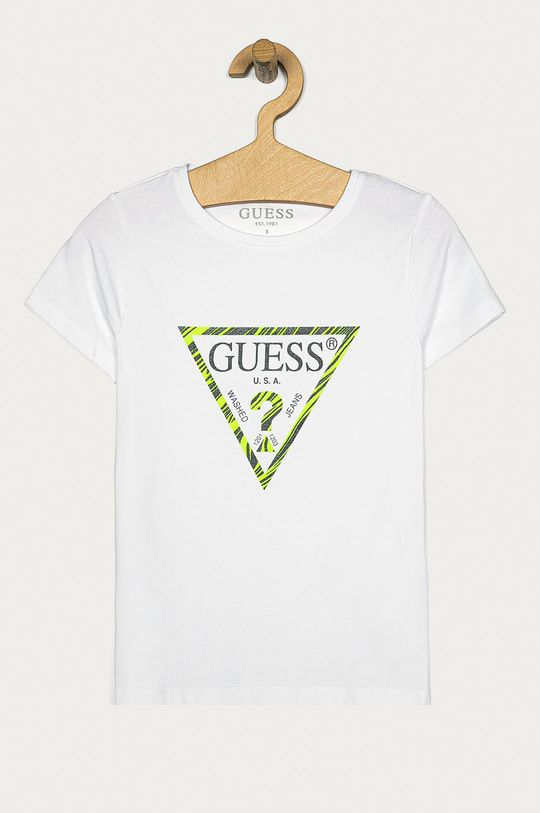biały Guess Jeans - T-shirt dziecięcy 116-175 cm Dziewczęcy