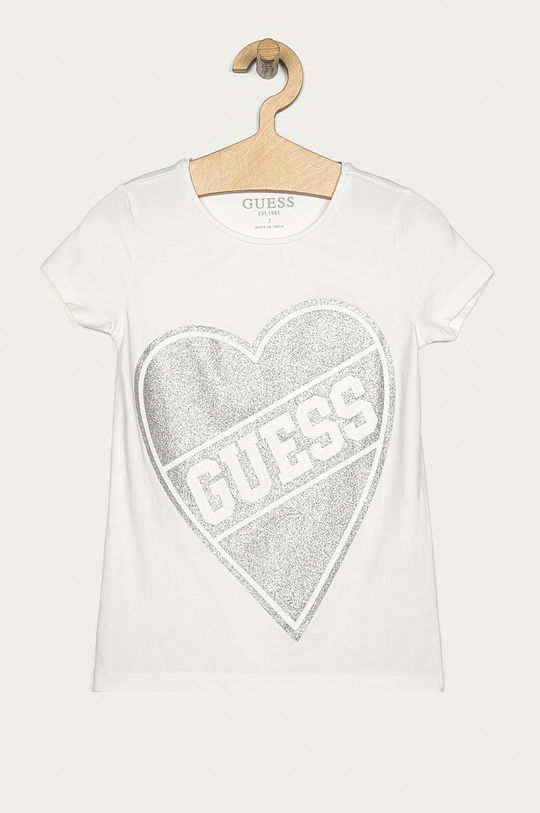 alb Guess Jeans - Tricou copii 116-175 cm De fete