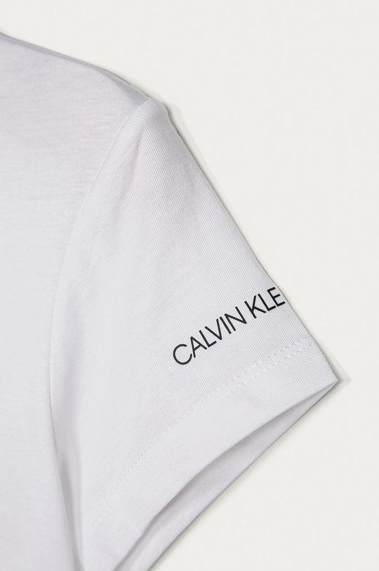 biały Calvin Klein Jeans - T-shirt dziecięcy 140-176 cm