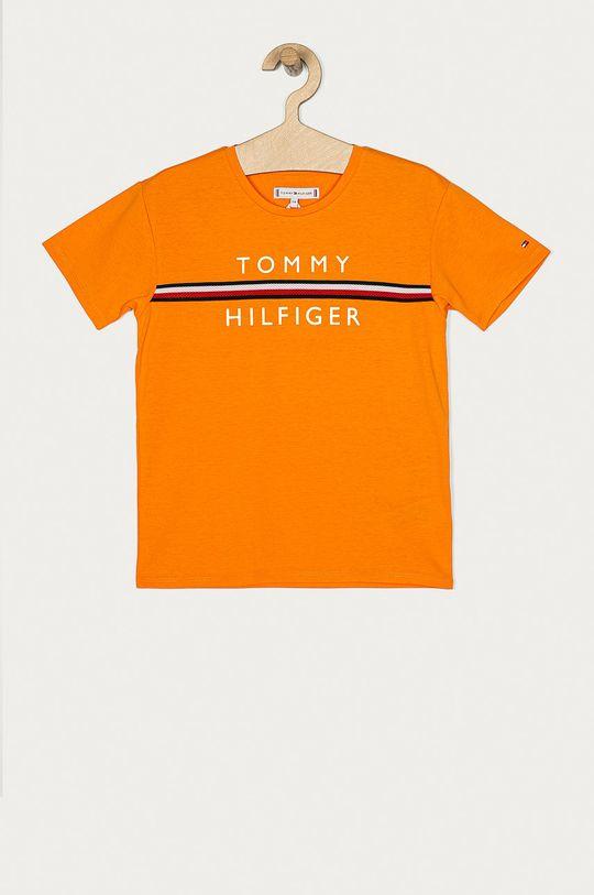 oranžová Tommy Hilfiger - Dětské tričko 104-176 cm Dívčí