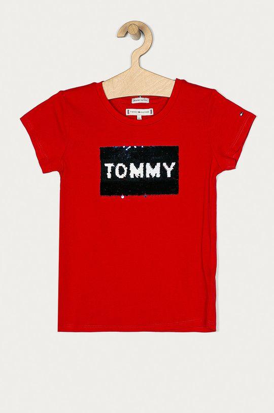 červená Tommy Hilfiger - Dětské tričko 110-176 cm Dívčí