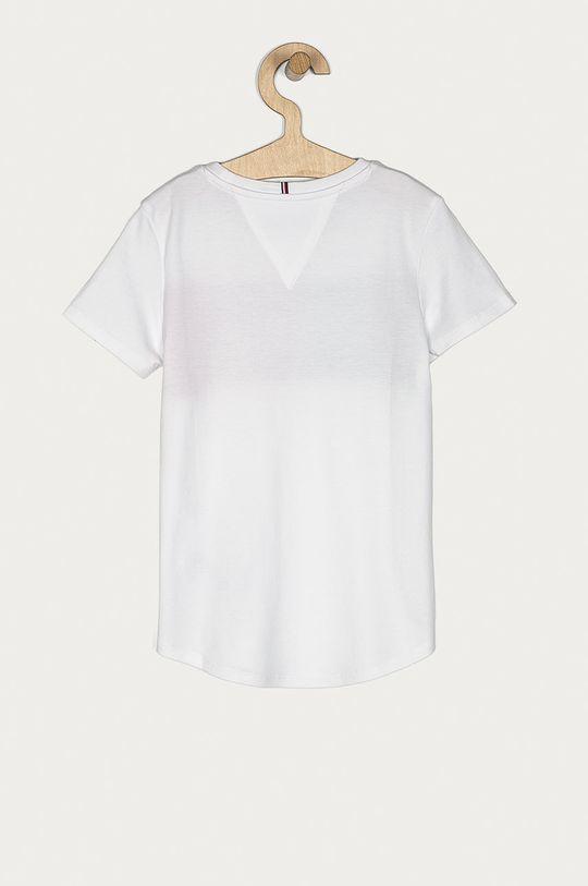 Tommy Hilfiger - Tricou copii 128-176 cm alb