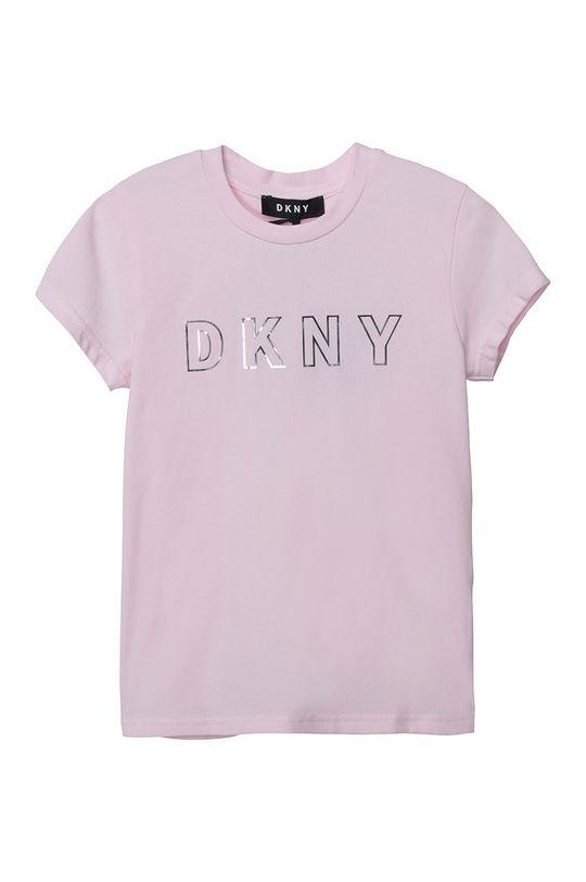 różowy Dkny - T-shirt dziecięcy Dziewczęcy