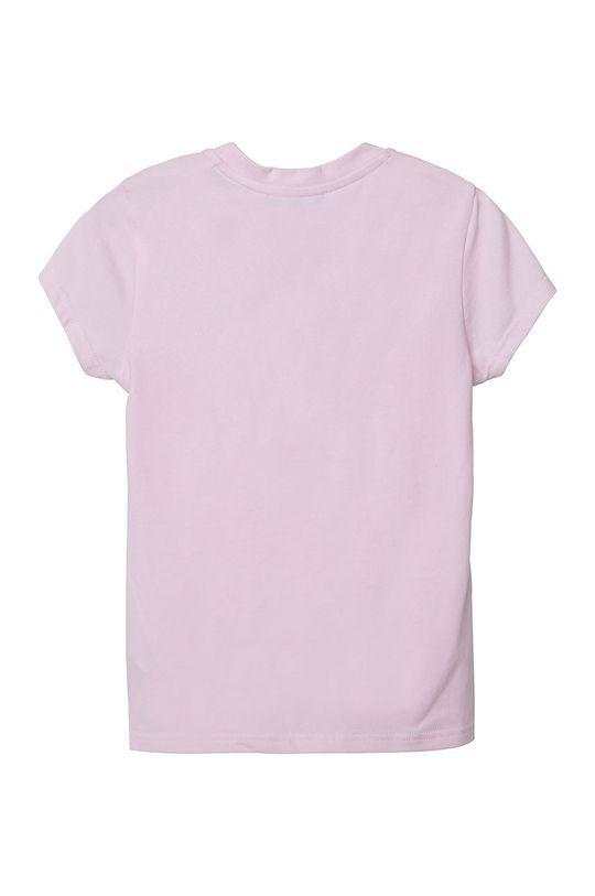 Dkny - T-shirt dziecięcy różowy