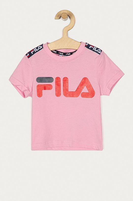 różowy Fila - T-shirt dziecięcy Dziewczęcy