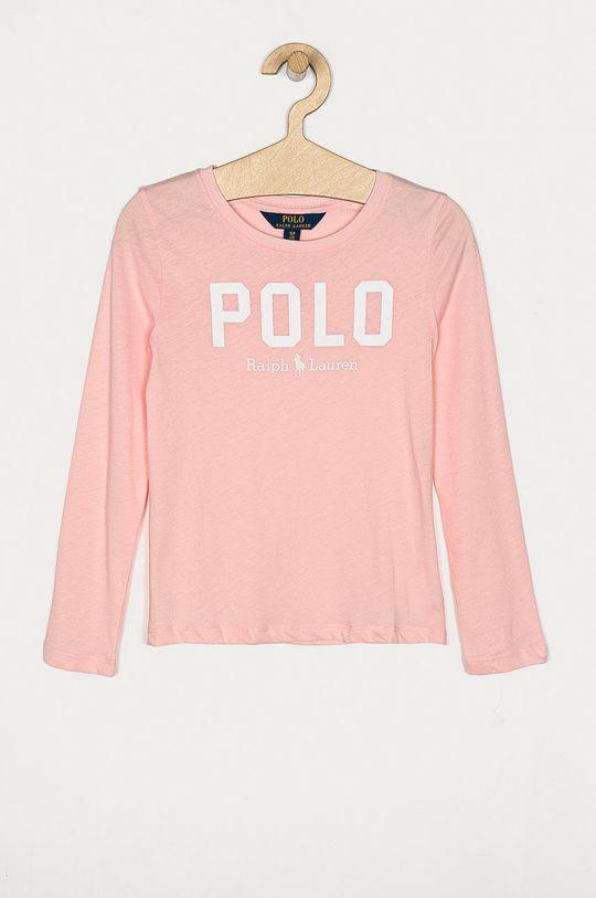 ružová Polo Ralph Lauren - Detské tričko s dlhým rukávom 128-176 cm Dievčenský