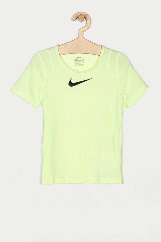 zielony Nike Kids - T-shirt dziecięcy 122-166 cm Dziewczęcy