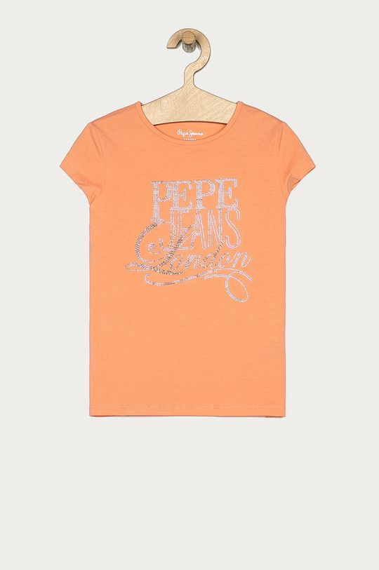 portocaliu Pepe Jeans - Tricou copii Aquaria 128-180 cm De fete