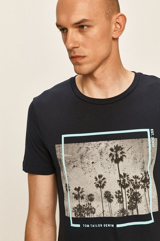 granatowy Tom Tailor Denim - T-shirt