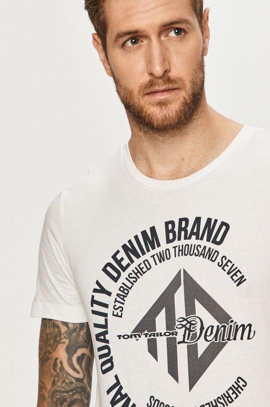 alb Tom Tailor Denim - Tricou De bărbați