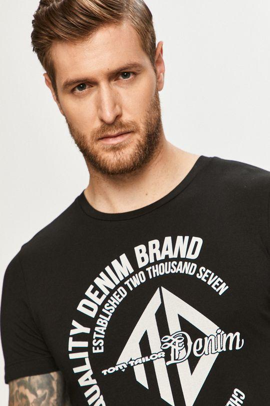 czarny Tom Tailor Denim - T-shirt