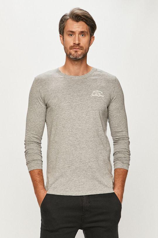sivá Jack & Jones - Tričko s dlhým rukávom Pánsky
