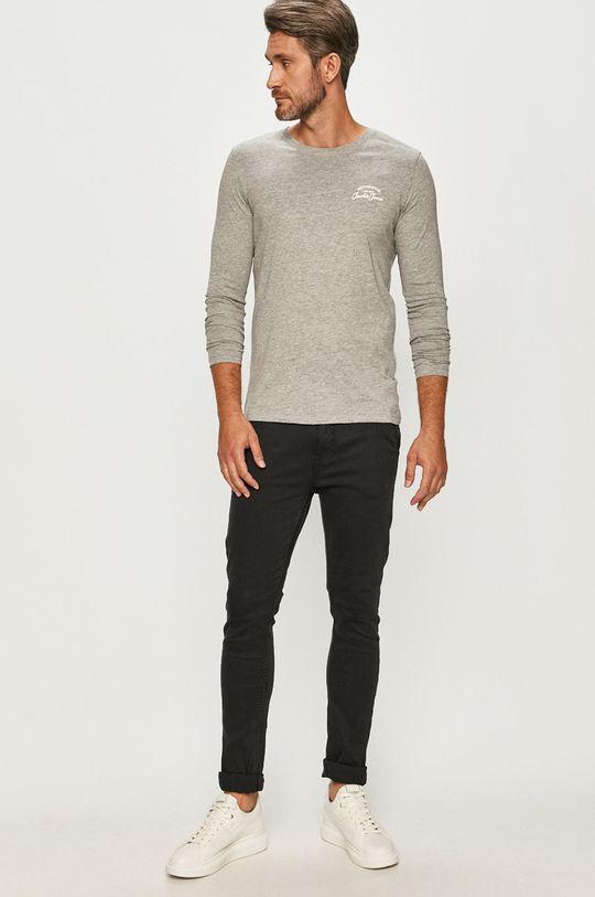 Jack & Jones - Tričko s dlhým rukávom sivá
