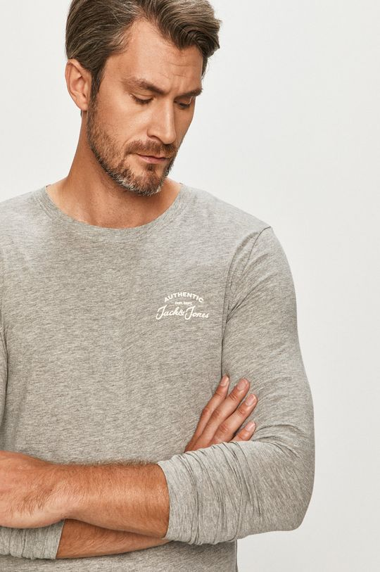 sivá Jack & Jones - Tričko s dlhým rukávom