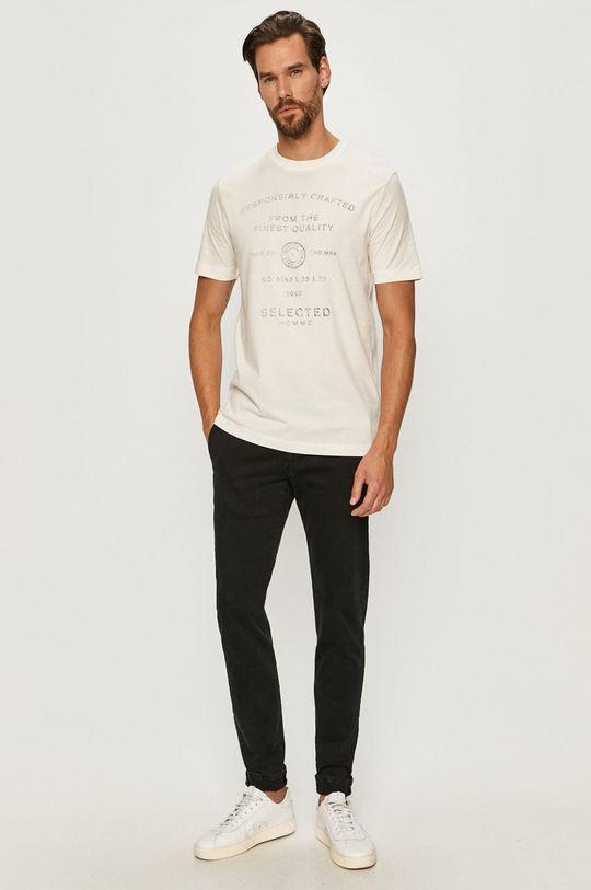 Selected - Tričko biela