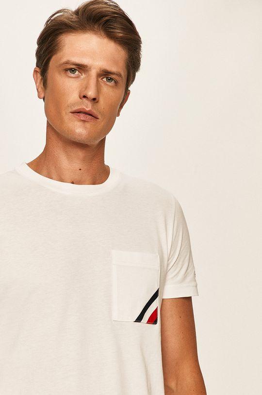 biały Tommy Hilfiger - T-shirt Męski