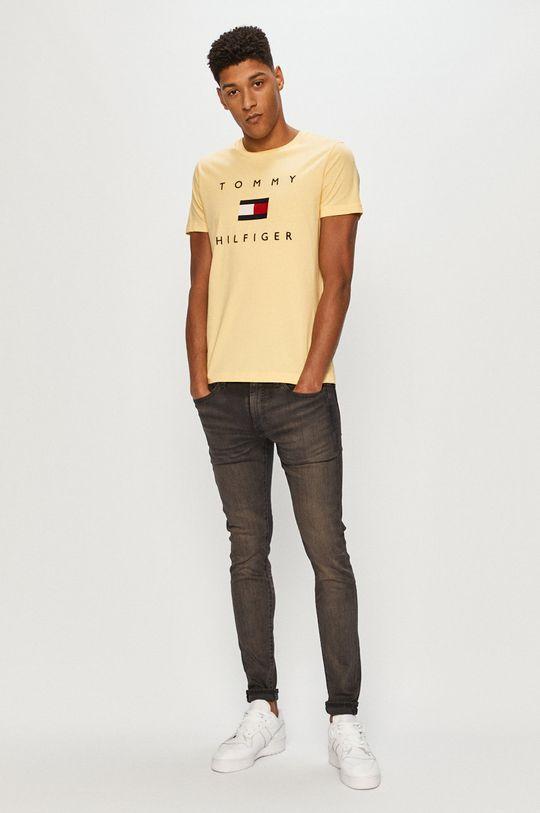 Tommy Hilfiger - T-shirt żółty