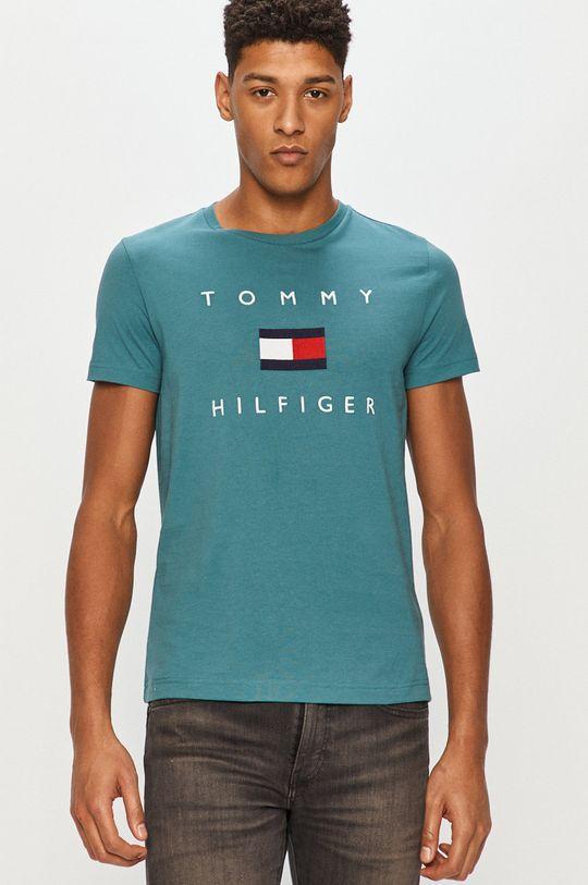 zielony Tommy Hilfiger - T-shirt Męski