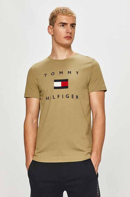 jasny oliwkowy Tommy Hilfiger - T-shirt Męski