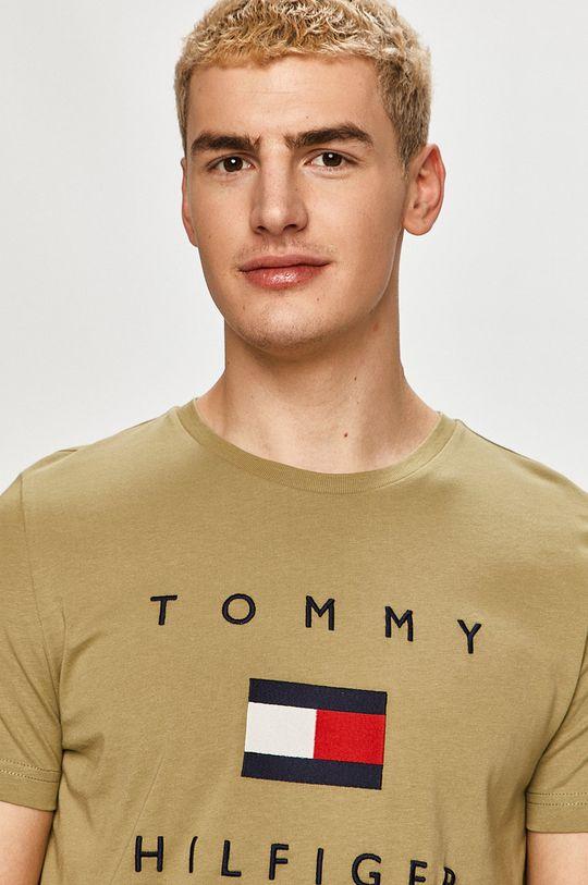 jasny oliwkowy Tommy Hilfiger - T-shirt