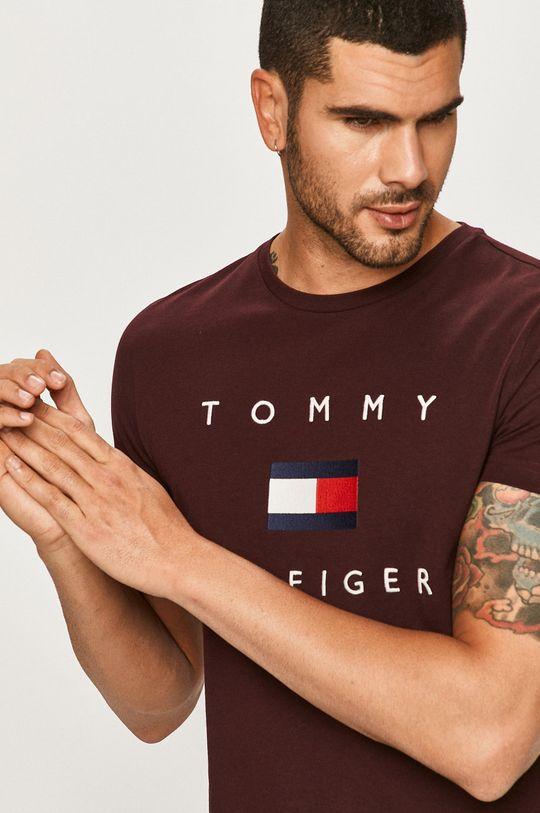 kasztanowy Tommy Hilfiger - T-shirt Męski